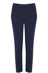 Oasis Compact Cotton Trouser Navy