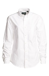 Gitman Brothers Vintage Tapered Fit Button Down Oxford Shirt Women White