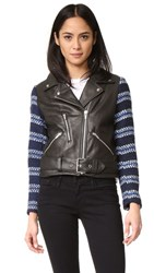 Veda Lion Jacket Blue Stripe