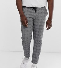 Jacamo Check Trousers With Side Stripe Grey