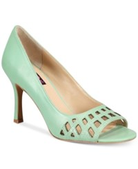 Mojo Moxy Charli Peep Toe Pumps Women's Shoes Mint