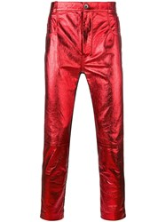 Haider Ackermann Panelled Skinny Trousers Red