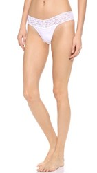 Hanky Panky Cotton With A Conscience Petite Low Rise Thong White