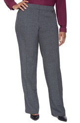 Eloquii Double Weave Straight Leg Pants Plus Size Salt And Pepper