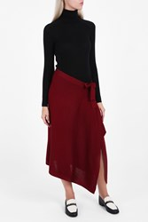 Rodebjer Wrap Front Skirt Red