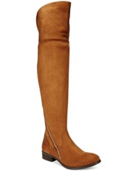 Report Gwynethh Over The Knee Boots Women's Shoes Chestnut