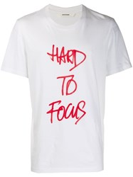 Zadig And Voltaire Hard To Focus Graphic T Shirt White