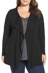 Three Dots Plus Size Women's Luz Drape Front Cardigan