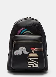 Marc Jacobs Sequin Patched Backpack Black
