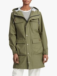 Ralph Lauren Polo Madison Water Repellent Hooded Parka Expedition Olive