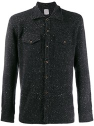 Eleventy Button Up Knitted Shirt Blue