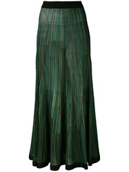 Sonia Rykiel Long Knitted Skirt Women Silk Viscose M Green