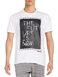 Bench The Future Modern Is Now Graphic Tee Bright White