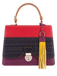 Lodis Rodeo Woven Rfid Cher Flap Leather Satchel Multi
