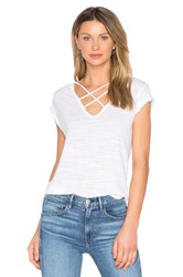 Lna Triple Cross Tee White