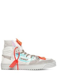 Off White Court Iridescent High Top Sneakers White