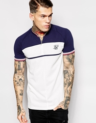 Siksilk Retro Polo Shirt Navy