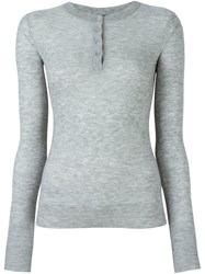 Joseph Henley Jumper Grey