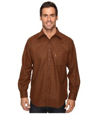 Pendleton L S Trail Shirt W Elbow Patch Rust Solid Men's Long Sleeve Button Up Brown