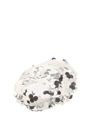 Maison Michel New Billy Sequined Beret Silver