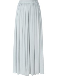 Kristensen Du Nord Pleated Sheer Long Skirt Grey