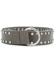 B Low The Belt Crystal Embellished Grey