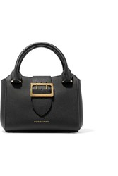 Burberry Textured Leather Tote Black