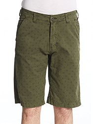 Buffalo David Bitton Haiden Flat Shorts Hunter Green
