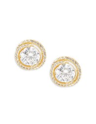 Nadri Cubic Zirconia Swirl Clip On Earrings Gold