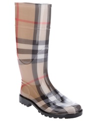 Burberry 'House' Check Rain Boot Brown