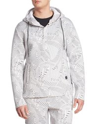 Saks Fifth Avenue X Anthony Davis Printed Scuba Hoodie Multicolor