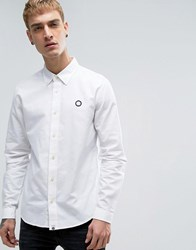 Pretty Green Oxford Shirt In White White