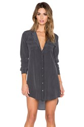 Equipment Slim Signature Button Up Dress Black