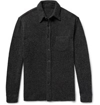 The Elder Statesman Oversized Cashmere Shirt Gray