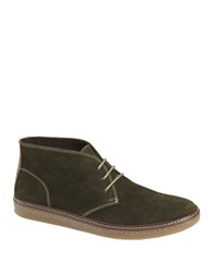 Johnston And Murphy Mcguffey Suede Chukka Sneakers Olive