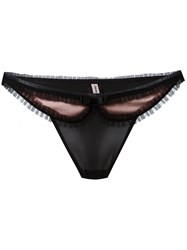 Chantal Thomass Lace Detail Thong Black