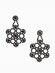 Kate Spade Crystal Lace Statement Earrings Black