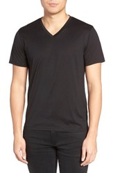 Theory Men's Silk And Cotton V Neck T Shirt