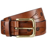 John Lewis Lee Flower Embossed Jeans Leather Belt Tan
