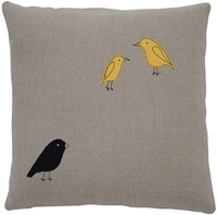 K Studio Galapagos Finches Pillow Gray