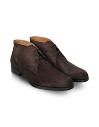 Moreschi Stiria Dark Brown Suede Ankle Boots