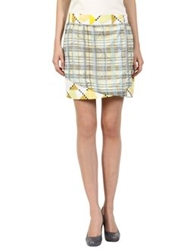 Suno Mini Skirts Light Yellow
