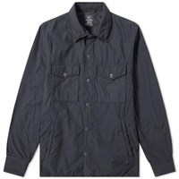 Save Khaki Fleece Lined Shirt Jacket Grey