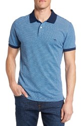 Rodd And Gunn Men's Surville Sports Fit Stripe Polo Marine