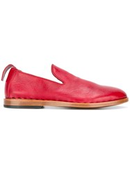 Measponte Slip On Loafers Red