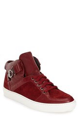 Versace Men's Collection Buckle High Top Sneaker