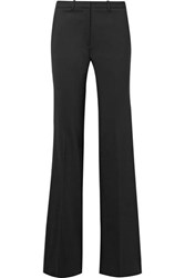 Theory Demitria Stretch Wool Flared Pants Black