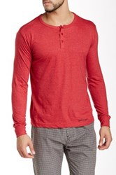 Bottoms Out Basic Henley Tee Red