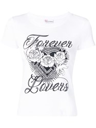 Red Valentino Forever Lovers Printed T Shirt White