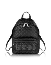 Moschino Black Quilted Nylon Backpack W Logo